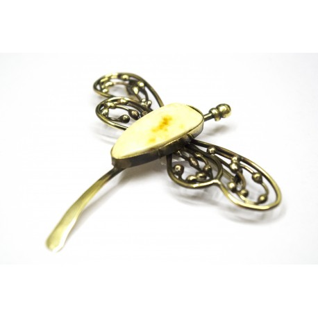 "Brass brooch ""Dragonfly"""