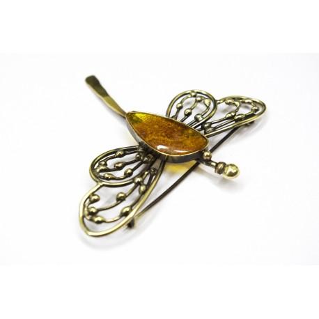 """Brass brooch """"Dragonfly"""""""