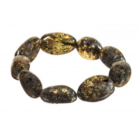 """Amber bracelet """"Moss"""""""