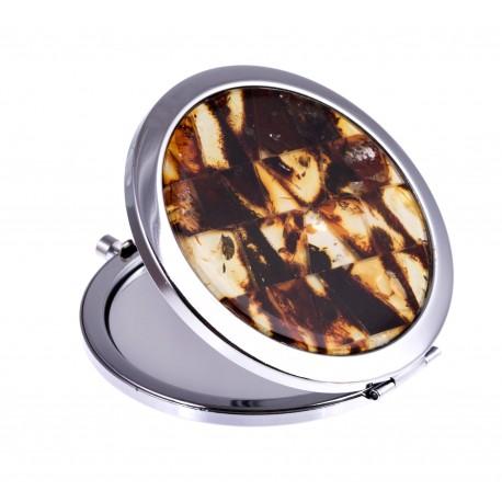 "Margo gintaro mozaika dekoruotas veidrodėlis ""Greitis"""
