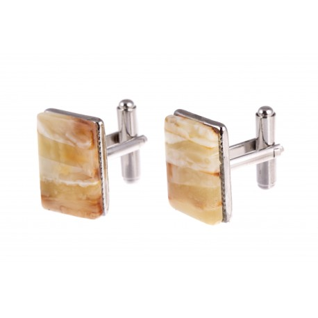 "Rectangular-form amber cufflinks ""The Classics"""