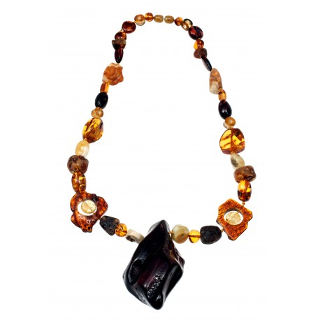 Colorful amber beads