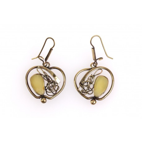 "Brass earrings ""The Apples"""