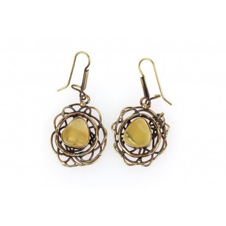 "Brass earrings ""Light of Happiness"""