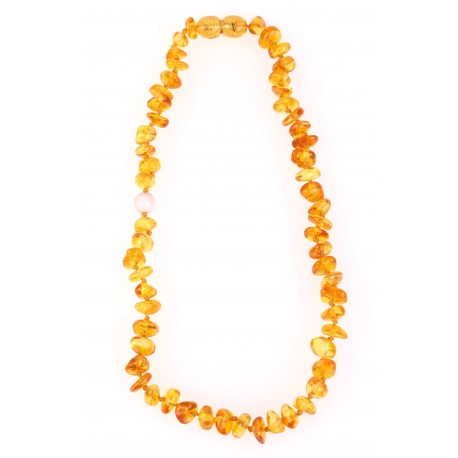 "Children amber beads ""Corals"""