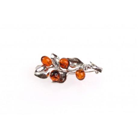 "Amber-silver brooch ""Amber Branch"""