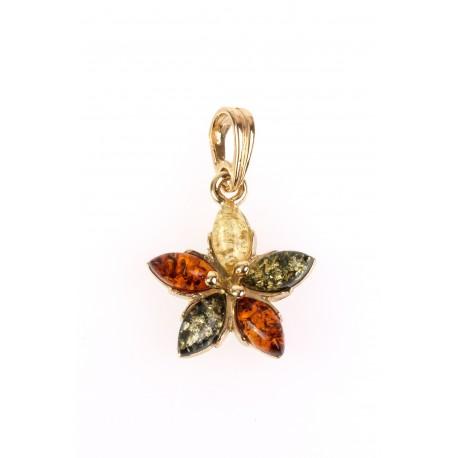 """Golden pendant """"Five-leaf"""""""