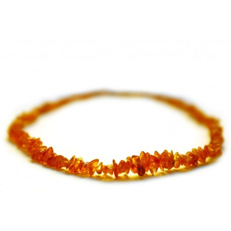 Caramel hues' transparent amber necklace