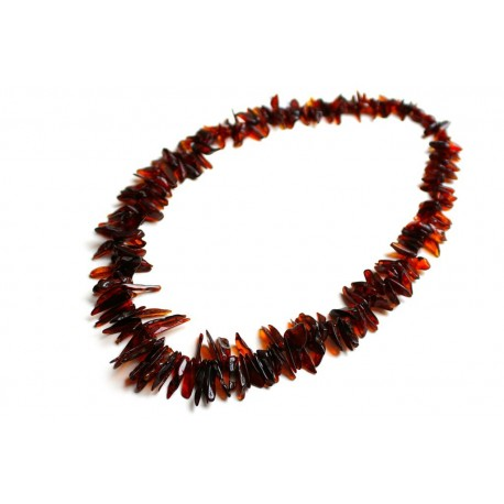 "Amber necklace ""Thorns"""