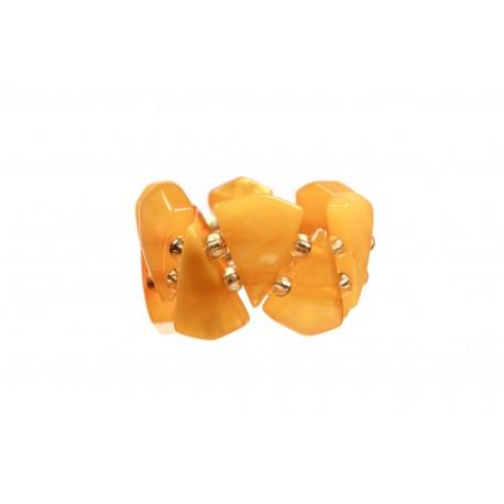 Yellow amber ring