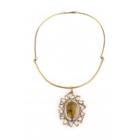 "Brass necklace ""Solar Eclipse"""