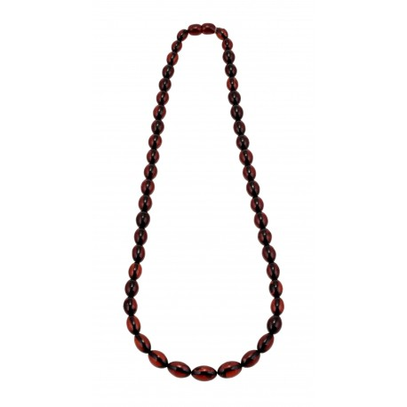 Transparent brown amber necklace