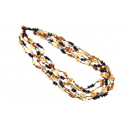 Small amber beads' necklace