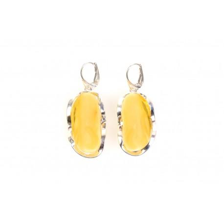 """Amber - silver earrings """"Sunbaths"""""""