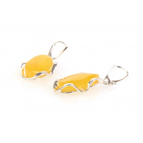 """Amber - silver earrings """"Linden Mead"""""""