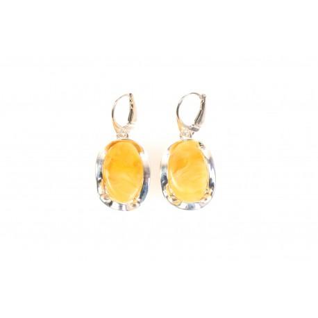 """Amber - silver earrings """"Gentleness"""""""