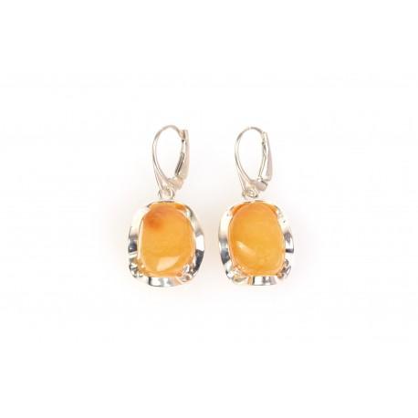"Amber - silver earrings ""The Honey of Love"""