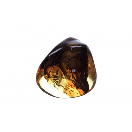 Clear, yellow amber nugget with an inclusion