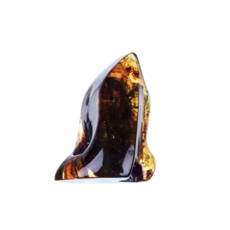 Clear, yellow amber nugget