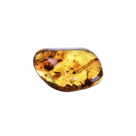 Brownish-yellow amber nugget
