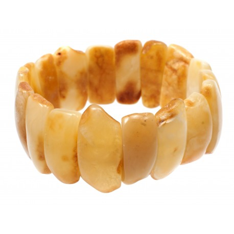 Yellow and white amber bracelet