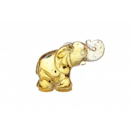 Yellow amber figurine - an elephant