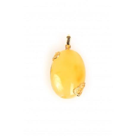 Yellow amber pendant
