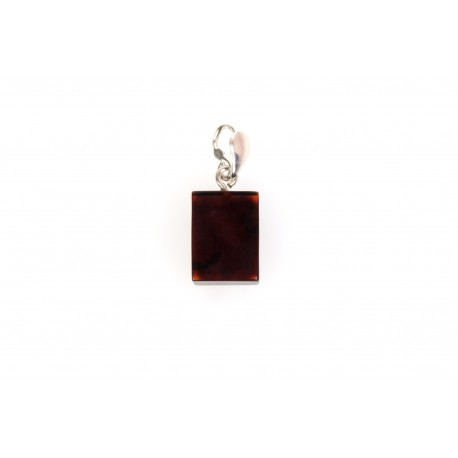 Cherry amber pendant with a silver loop