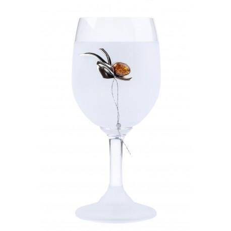 stiklinė, gintaras, taurė, sidabras