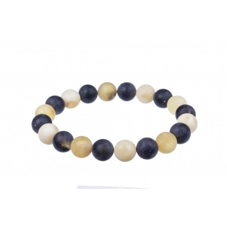 Two-colour amber bracelet