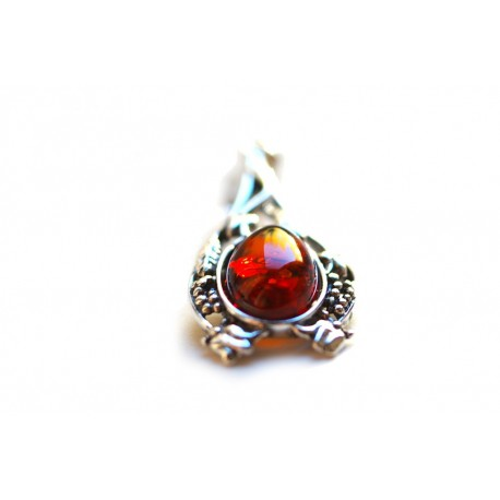 """Amber - silver pendant """"Promise"""""""