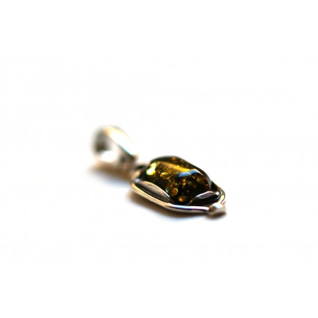 "Amber - silver pendant ""Yakata"""