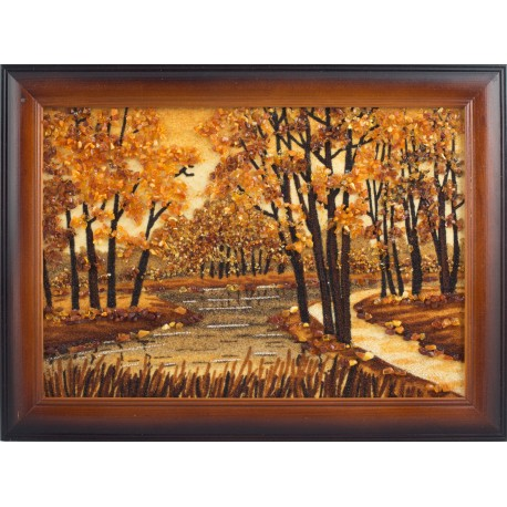 "Amber picture ""Forest trail"""