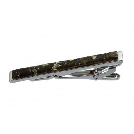 Kaklaraiščio segtukas dekoruotas gintaru