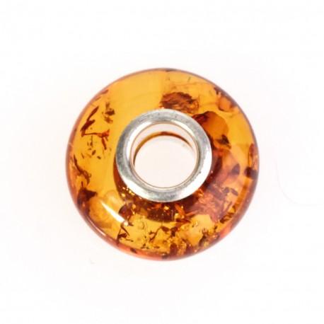 Cognac colour, amber bead