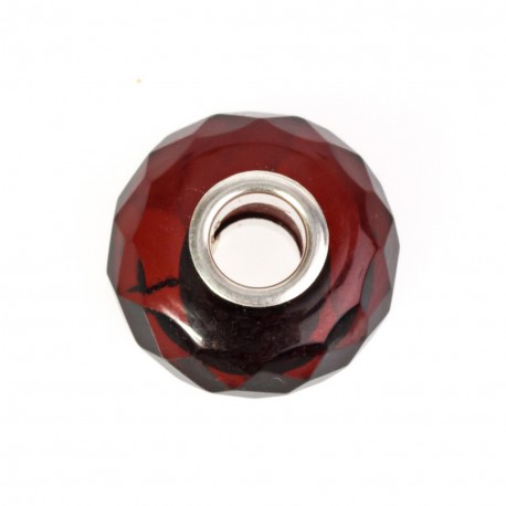 Diamond-polishing, amber bead