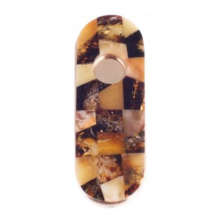 Pakraunamas žiebtuvėlis dekoruotas gintaru