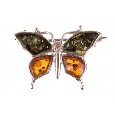 """Silver brooch """"Love Butterfly"""""""