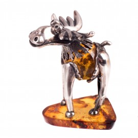 "Silver-amber figurine ""Moose"""