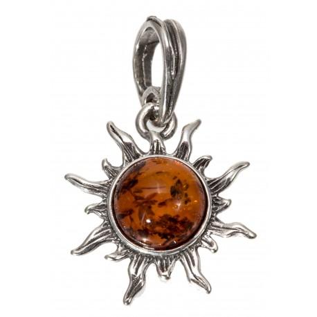 "Silver pendant ""Sun"""