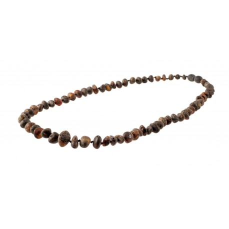 Irregular-shaped amber pieces' necklace