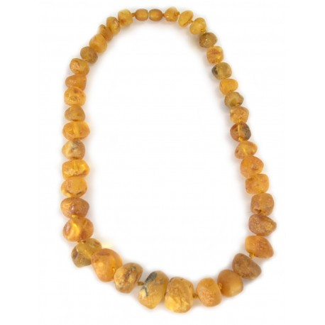 Natural yellow amber necklace