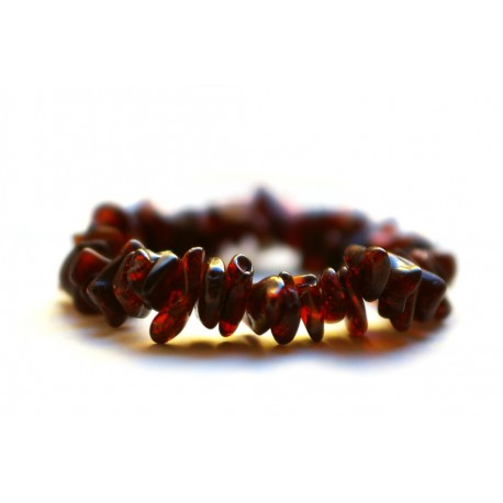 Rich cherry color amber bracelet