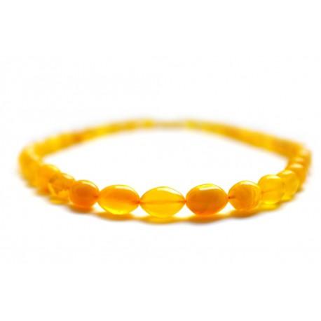 Amber beads of rich linden honey hue