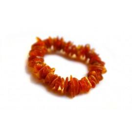 Yellowish-brown amber bracelet
