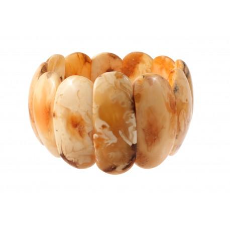 White royal-yellow amber bracelet