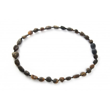 Children black amber beads