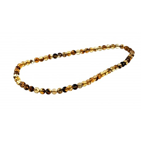 Transparent green amber beads