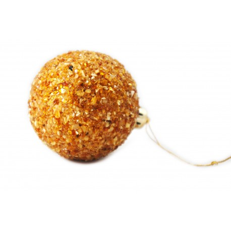 Amber bauble for a Christmas tree (small size)