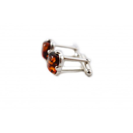 Cognac-color cufflinks